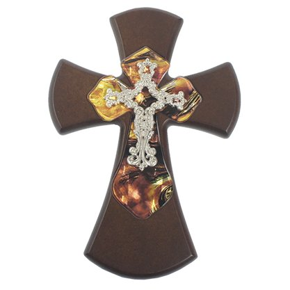 Cruz em Madeira com Acrílico 29 cm