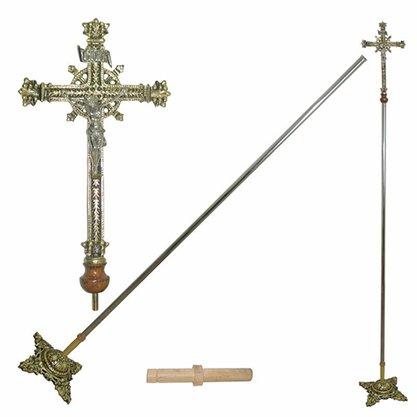 Cruz Processional Dourada