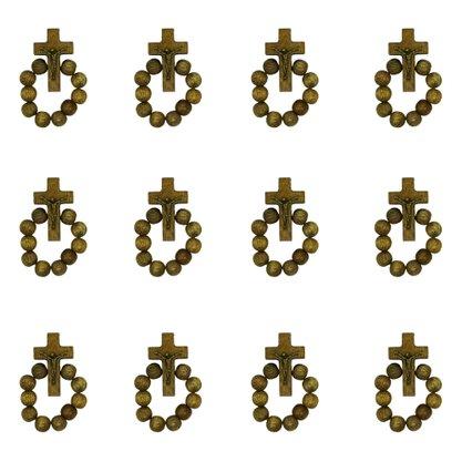 Dezena de Dedo em Madeira Imbuia Contas em 6mm Preço da dúzia