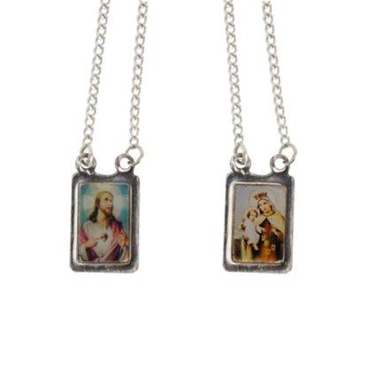 Escapulário Nossa Senhora do Carmo Inox Preço de 6 unidades
