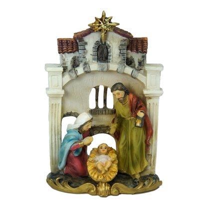 Imagem Resina Importada Cenário Sagrada Família 11cm