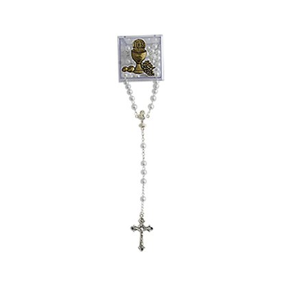 Lembranca Primeira  Eucaristia Terço Caixa Acrílica