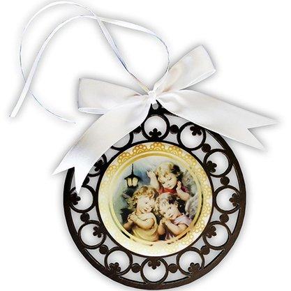 Adorno Redondo de Parede Mandala Anjos - 12 cm
