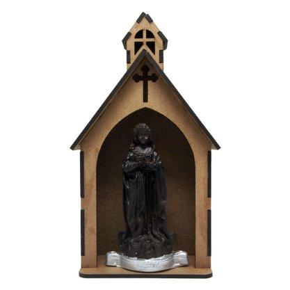 Capela MDF Cru com Imagem de Resina 11 x 21 cm