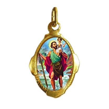 Medalha Chapa Resinada de São Cristovão - Contém 100 Unidades