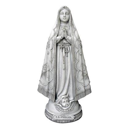 Imagem Nossa Senhora Aparecida em Mármore com Coroa de Metal 43cm