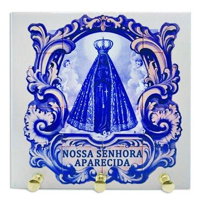 Porta chave azulejo Nossa Senhora aparecida estilo português