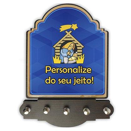 Porta Chave Personalizado Provençal MDF Resinada 16 x 21 cm - Preço de 12 unidades.