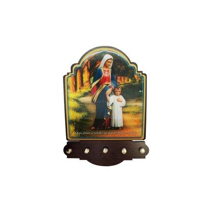 Porta Chaves Maria Passa na Frente Modelo Provençal em MDF Resinado 21 cm