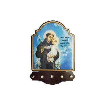 Porta Chaves Santo Antônio Modelo Provençal em MDF Resinado 21 cm