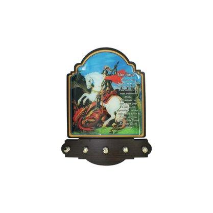Porta Chaves São Jorge Modelo Provençal MDF Resinado 21 cm