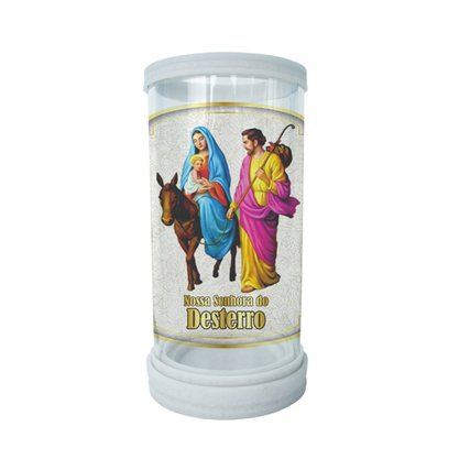 Porta Vela em Vidro e Mármore Nossa Senhora do Desterro - 18cm