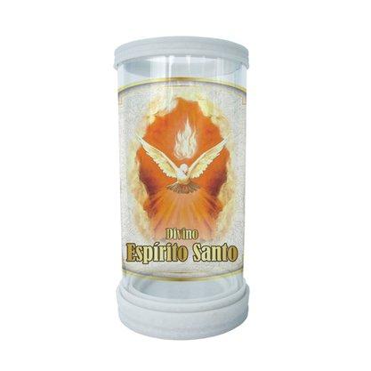 Porta Vela em Vidro e Mármore Divino Espírito Santo - 18cm