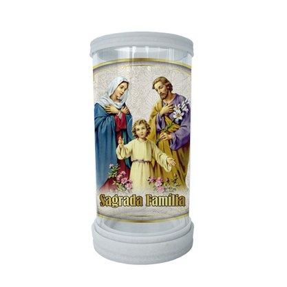 Porta Vela em Vidro e Mármore Sagrada Família 18cm