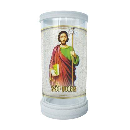 Porta Vela em Vidro e Mármore São Judas Tadeu - 18cm