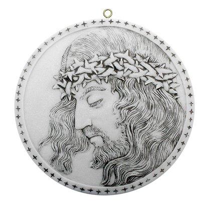 Quadro Face de Cristo em Mármore 25cm