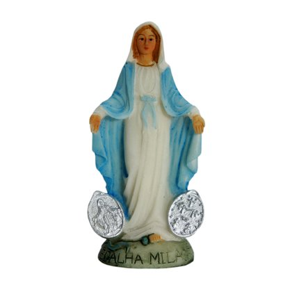 Imagem Resina Importada Nossa Senhora das Graças com Medalha Milagrosa - 8cm