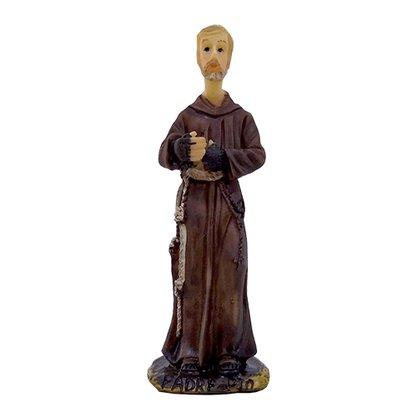 Imagem Resina Importada Padre Pio - 8cm