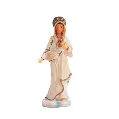 Imagem Resina Importada Sagrado Coração de Maria 8cm