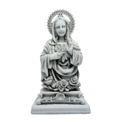 Imagem Sagrado Coração de Maria em Mármore 25cm