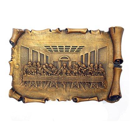 Imagem Santa Ceia em Mármore com Pintura em Bronze 12cm