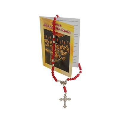 Terço Coroa do Divino Espírito Santo com Oração Pacote c/6un