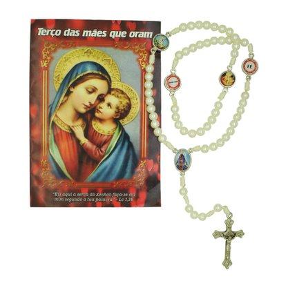 Terço das Mães que Oram com Oração Preço de 6 unidades