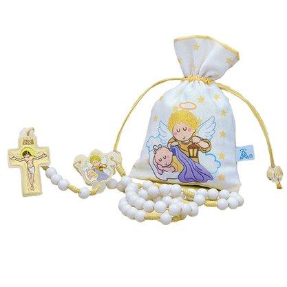 Terço Infantil Anjo da Guarda Saquinho