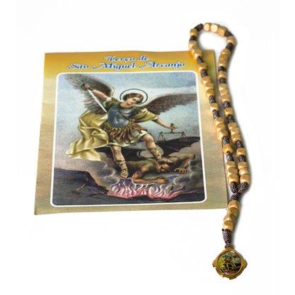 Terço Marfim São Miguel com Oração Preço de 6 unidades
