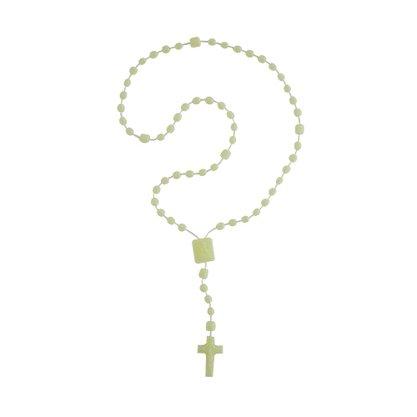 Terço Nylon Luminoso Entremeio Sag Coração de Jesus e Nossa Senhora Aparecida  34cm Comprimento  Preço da dúzia