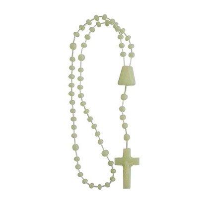 Terço Nylon Luminoso Entremeio Sag Coração de Jesus e Nossa Senhora Aparecida  27cm Comprimento  Preço da dúzia