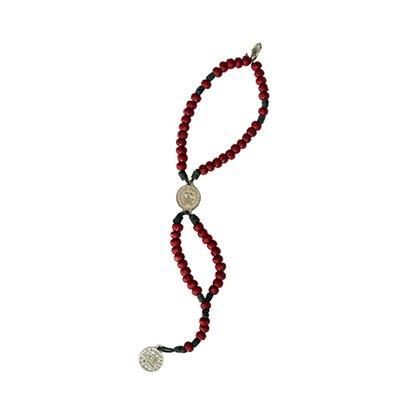Terço para Pulso Entremeio Medalha São Bento em Vermelho - Contém 6 Unidades