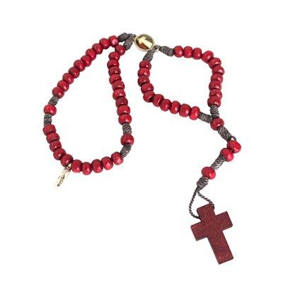 Terço para Pulso Jesus Misericordioso em Vermelho Preço de 6 unidades