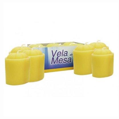 Vela de Mesa Amarela - 6 unidades