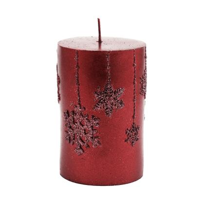 Vela Decorativa Natalina Torre Vinho - 10 cm