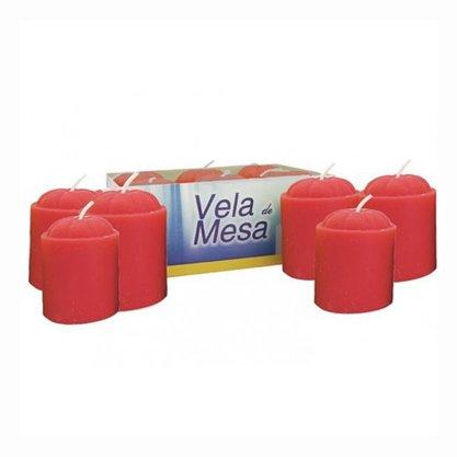 Vela Mesa Vermelha - 6 Unidades