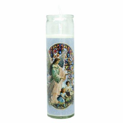 Vela Vidro Altar Anjo da Guarda