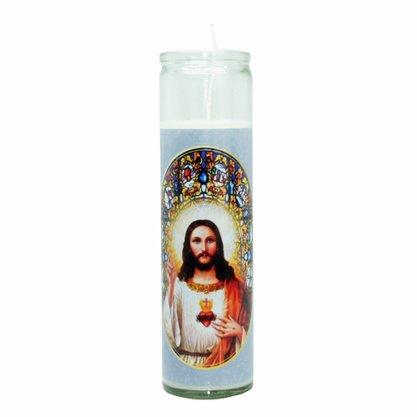 Vela Vidro Altar Sagrado Coração de Jesus