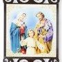 Adorno de Porta Sagrada Família Quadrado Duplo