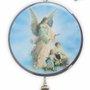 Adorno de Porta Anjo da Guarda 2 Medalhas 30 x 7,5 cm