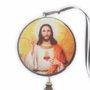 Adorno Redondo de Porta Sagrado Coração de Jesus - 2 Medalhas - 30cm