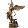 Arcanjo São Miguel em Pó de Mármore Cor Bronze 40cm