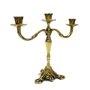 Castiçal Três Velas Bronze - 28 x 30 Cm