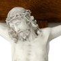 Crucifixo de Parede em Madeira e Cristo em Mármore 53cm