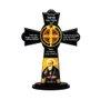 Cruz de Mesa São Bento em MDF Resinado 22 cm