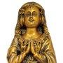 Nossa Senhora Aparecida FacSímile em Mármore com Pintura em Bronze 37cm