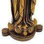 Imagem Nossa Senhora Aparecida FacSímile em Mármore Com Pintura em Bronze 28cm