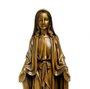 Imagem Nossa Senhora das Graças em Mármore Bronze com Medalha Milagrosa 21cm