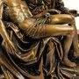 Imagem Nossa Senhora de Pietá em Mármore com Pintura em Bronze - 26cm
