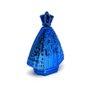 Porta Água Benta Nossa Senhora Aparecida Vidro Azul Cromado